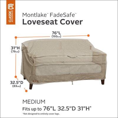 Montlake Bench/Loveseat/Sofa Cover Size: 31 H x 76 W x 32.5 D
