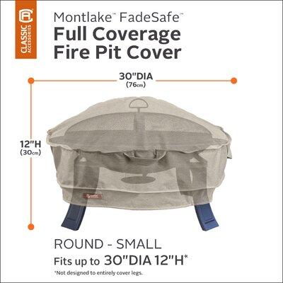 Montlake Fire Pit Cover Size: 12 H x 30 W x 30 D