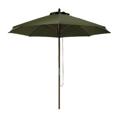 9 Montlake Classic Bamboo Market Umbrella Fabric: Heather Fern