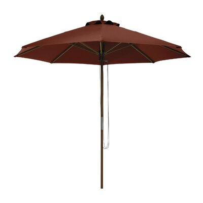 9 Montlake Classic Bamboo Market Umbrella Fabric: Heather Henna