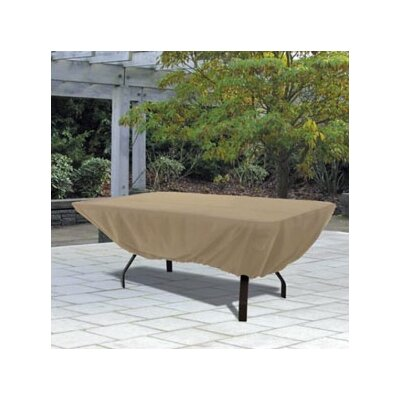 Rectangular Patio Table Cover in Sand