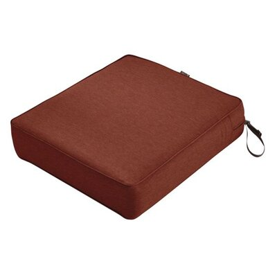 Montlake FadeSafe Rectangular Outdoor Lounge Chair Cushion Fabric: Heather Henna Red, Size: 5 H x 25 W x 27 D