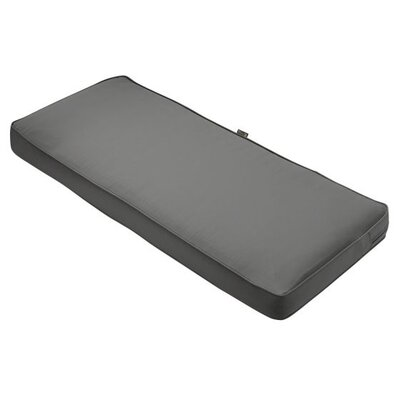 Montlake FadeSafe Outdoor Bench Cushion Fabric: Light Charcoal Gray