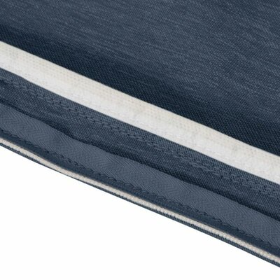 Montlake FadeSafe Outdoor Bench Cushion Fabric: Heather Indigo Blue