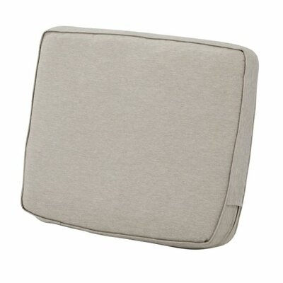 Montlake FadeSafe Outdoor Lounge Chair Cushion Fabric: Heather Gray, Size: 4 H x 25 W x 18 D