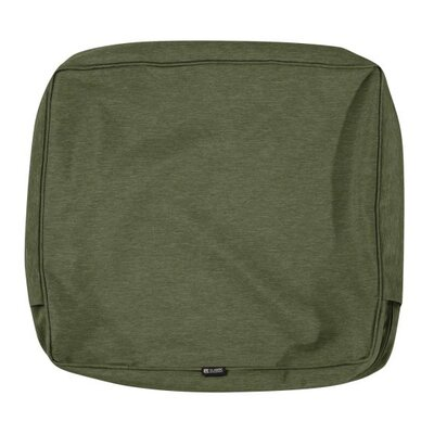 Montlake FadeSafe Outdoor Lounge Chair Cushion Fabric: Heather Fern Green, Size: 4 H x 25 W x 20 D