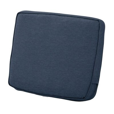 Montlake FadeSafe Outdoor Lounge Chair Cushion Fabric: Heather Indigo Blue, Size: 4 H x 23 W x 20 D