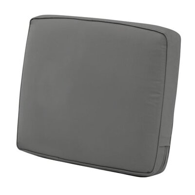Montlake FadeSafe Outdoor Lounge Chair Cushion Fabric: Light Charcoal Gray, Size: 4 H x 25 W x 18 D
