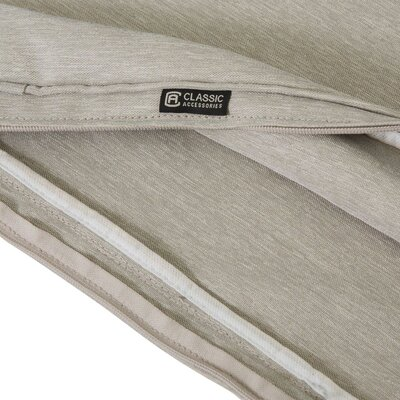 Fadesafe? Outdoor Chaise Lounge Cushion Fabric: Gray