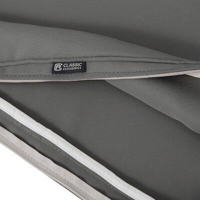 Montlake� FadeSafe� Outdoor Bench Cushion Fabric: Light Charcoal Gray