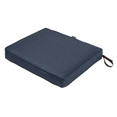 Montlake FadeSafe Rectangular Outdoor Dining Chair Cushion Fabric: Heather Indigo Blue, Size: 3 H x 21 W x 19 D