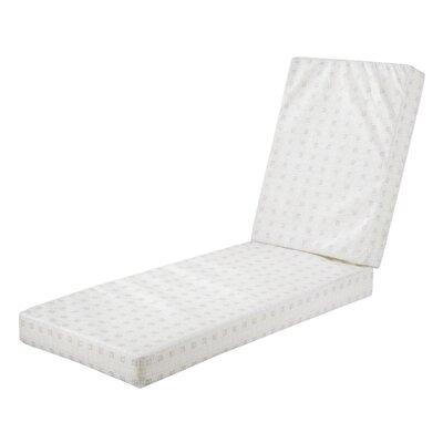 Montlake� FadeSafe� Outdoor Chaise Lounge Cushion Fabric: Heather Gray