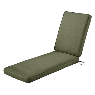 Montlake� FadeSafe� Outdoor Chaise Lounge Cushion Fabric: Heather Fern Green