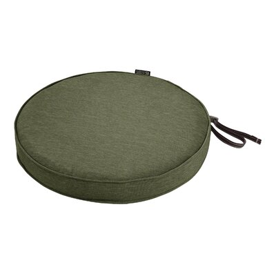 Montlake FadeSafe Round Outdoor Dining Chair Cushion Fabric: Heather Fern Green, Size: 2 H x 15 W x 15 D