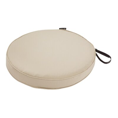 Montlake FadeSafe Round Outdoor Dining Chair Cushion Fabric: Antique Beige, Size: 2 H x 18 W x 18 D