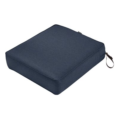 Montlake FadeSafe Rectangular Outdoor Lounge Chair Cushion Fabric: Heather Indigo Blue, Size: 5 H x 25 W x 27 D