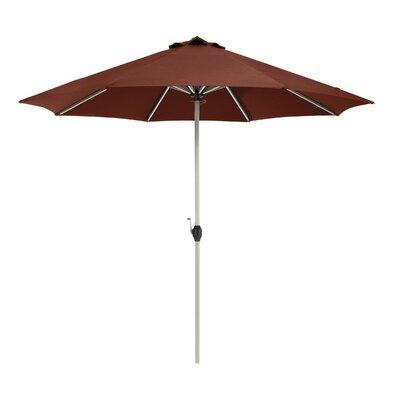 9 Montlake FadeSafe 9 Patio Market Umbrella Fabric: Heather Henna Red