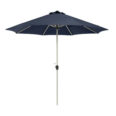 9 Montlake� FadeSafe� 9 Patio Market Umbrella Fabric: Heather Indigo Blue
