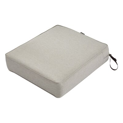 Montlake FadeSafe Rectangular Outdoor Lounge Chair Cushion Fabric: Heather Gray, Size: 5 H x 21 W x 25 D
