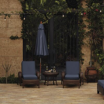 Fadesafe? Outdoor Chaise Lounge Cushion Fabric: Indigo Blue
