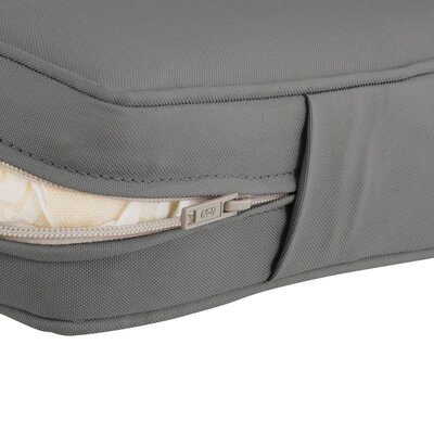 Countered Fadesafe? Outdoor Loveseat Cushion Fabric: Gray