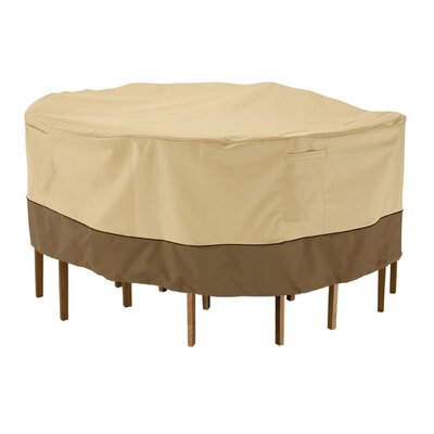 Round Table and Chair Cover Size: Large