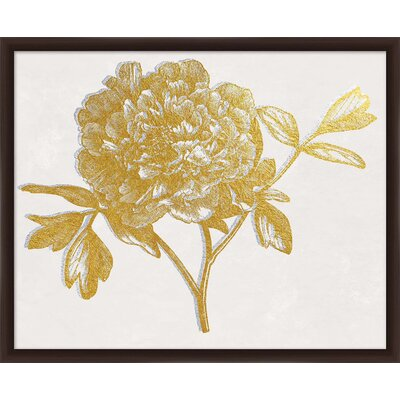'Metallic Dimension I' Framed Graphic Art Print in Gold 1-24551A