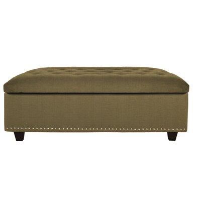 Sand Ottoman Upholstery: Sand Wasabi