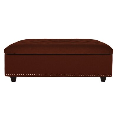 Cocktail Ottoman Upholstery: Burgundy