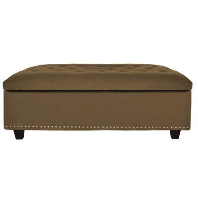 Cocktail Ottoman Upholstery: Pecan