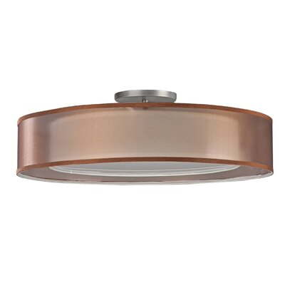 2-Light Flush Mount Finish: Satin Nickel