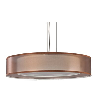 4-Light Drum Pendant Finish: Oakley Bronze