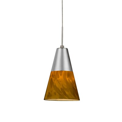 Laveer 1-Light Mini Pendant Shade Color: Amber