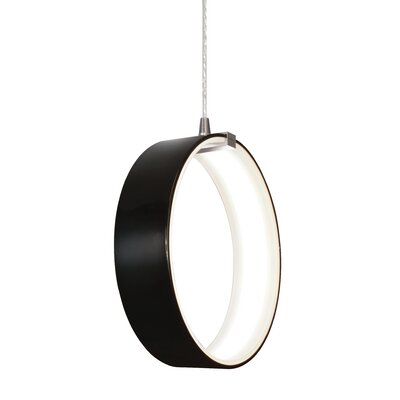 Ora 1-Light Mini Pendant Shade Finish: Black