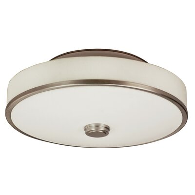 Sheridan 2-Light Multi-Volt Semi Flush Mount Finish: Satin Nickel