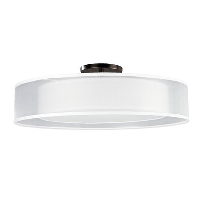 4-Light Semi-Flush Mount Finish: Oakley Bronze