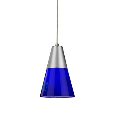 Laveer 1-Light Mini Pendant Shade Color: Blue