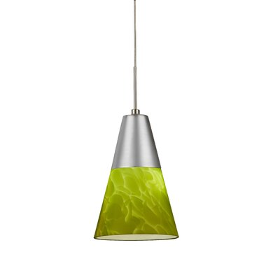 Laveer 1-Light Mini Pendant Shade Color: Green