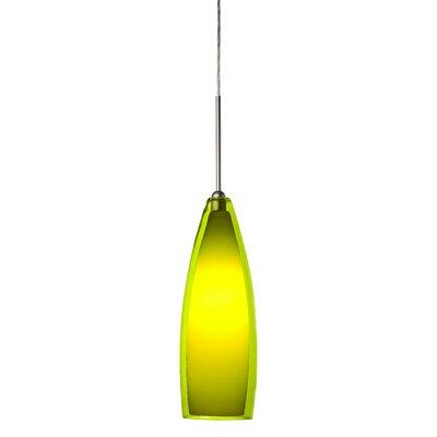 1-Light Mini Pendant Shade Color: Green