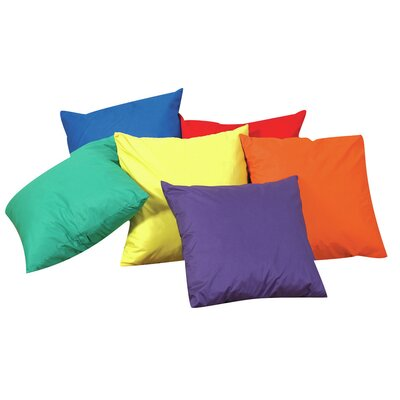 Throw Pillow Color: Primary, Size: 17 H x 17 W x 6 D