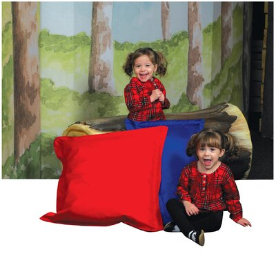 Any Weather Indoor/Outdoor Euro Pillow Color: Red & Blue