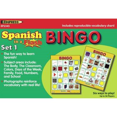 Spanish in a Flash Bingo Set 1 EP-2345