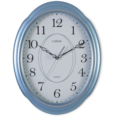 Caliber Oval Case Wall Clock in Blue