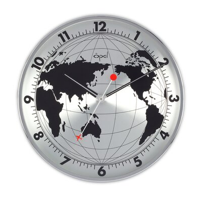Opal Stainless Steel Round Clock
