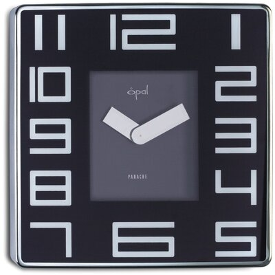 Opal Luxury Time Products Stainless Steel Square Case Wall Clock - Color: Black at Sears.com