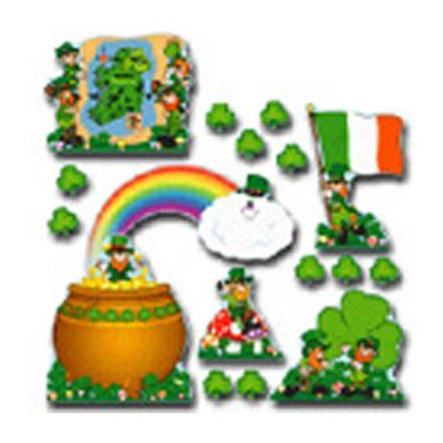 St. Patricks Day Bulletin Board Cut Out Set CD-3263