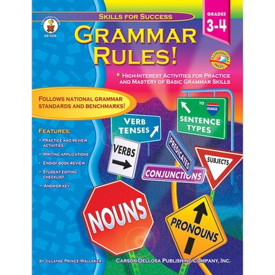 Grammar Rules Grade 3-4 Basic Book CD-4338
