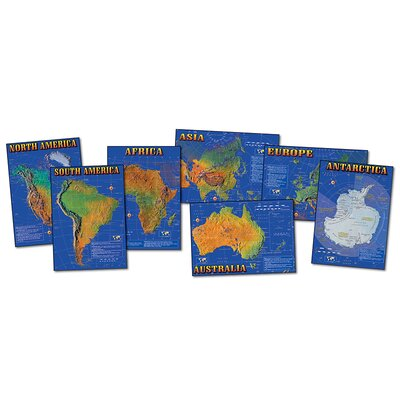 7 Continents of World Bulletin Board Cut Out Set CD-1948
