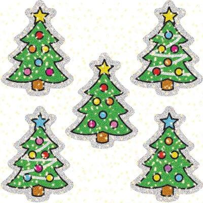 Dazzle Christmas Trees Sticker (Set of 3)