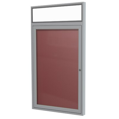 1 Door Aluminum Frame Enclosed Vinyl Letterboard Size: 36 H x 24 W x 2.25 D Frame Finish: Satin Surface Color: Burgundy image